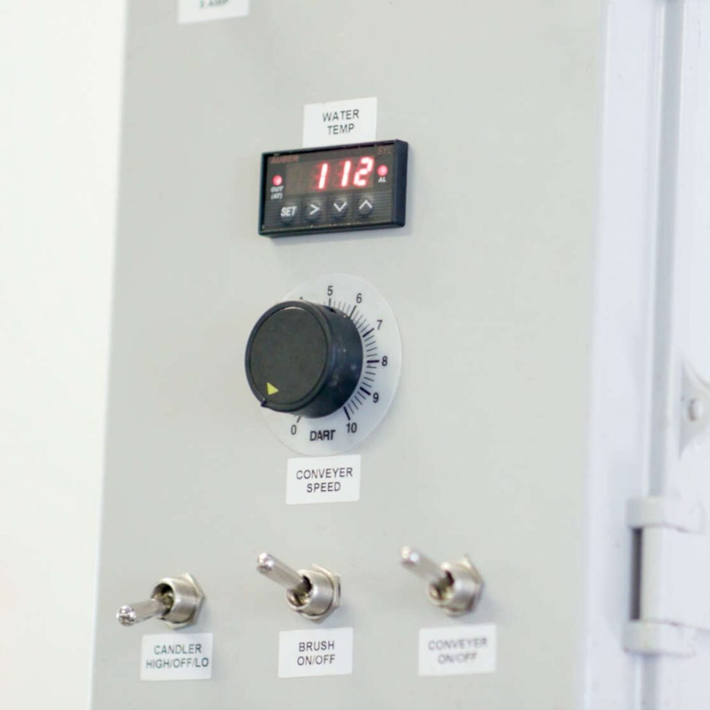 Variable speed of a Power Scrub Egg Washer
