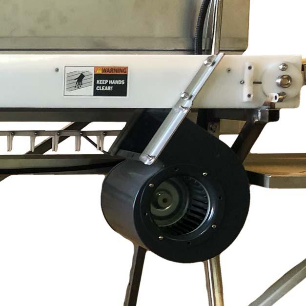 Fan option on a Power Scrub Egg Washer